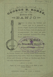 Advert For George B. Bohee, Banjo Teacher